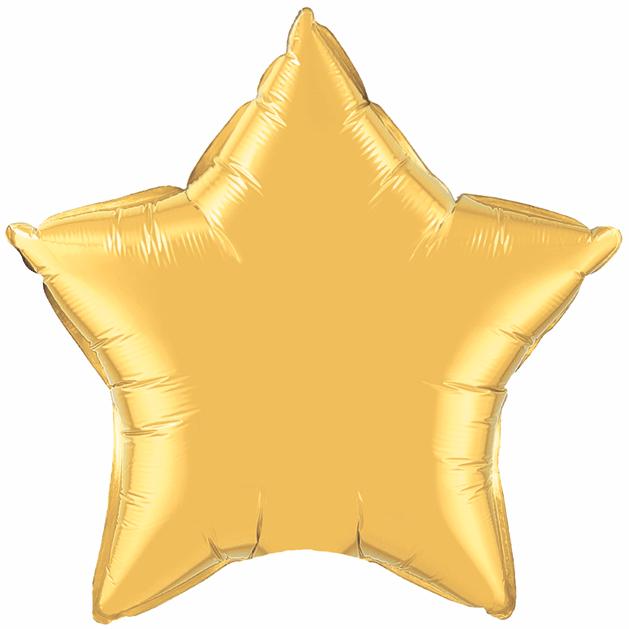 Balão estrela ouro