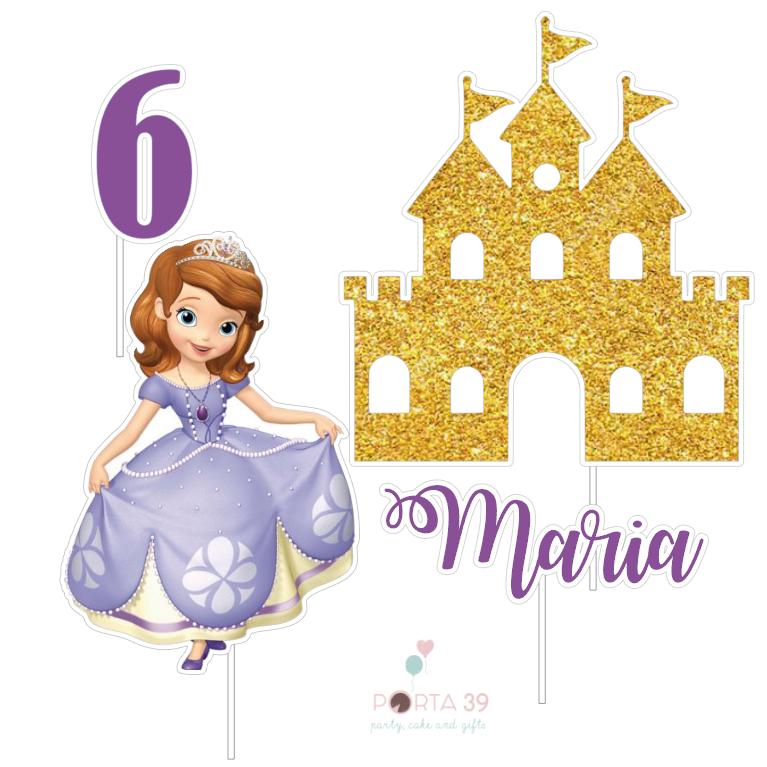 Cake topper Princesa Sofia