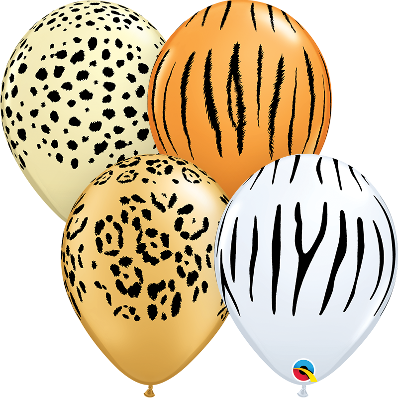 Conjunto balões látex 30cm safari