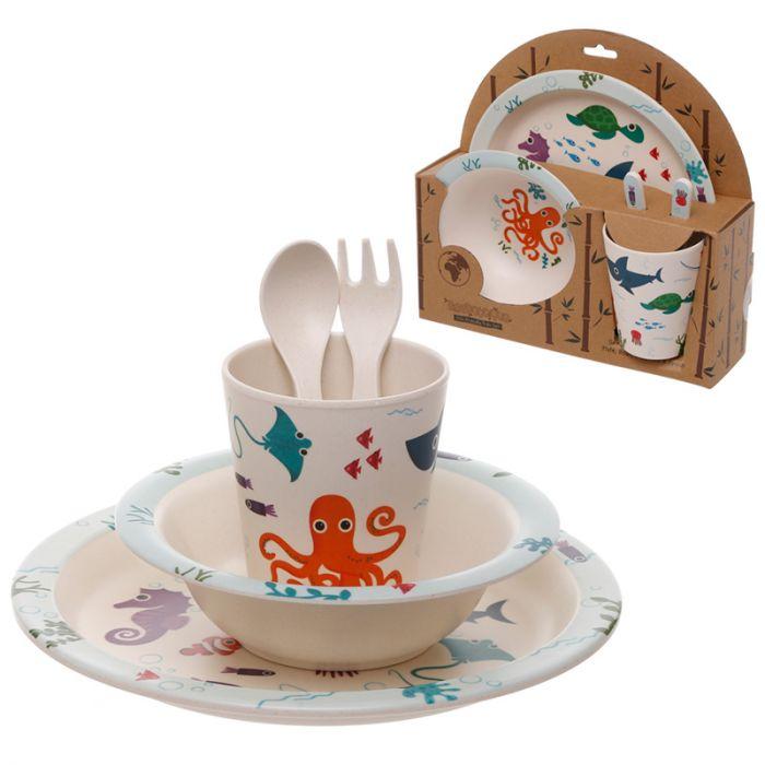 Conjunto de mesa para crianças Mar
