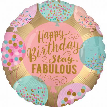 Balão happy birthday stay fabulous