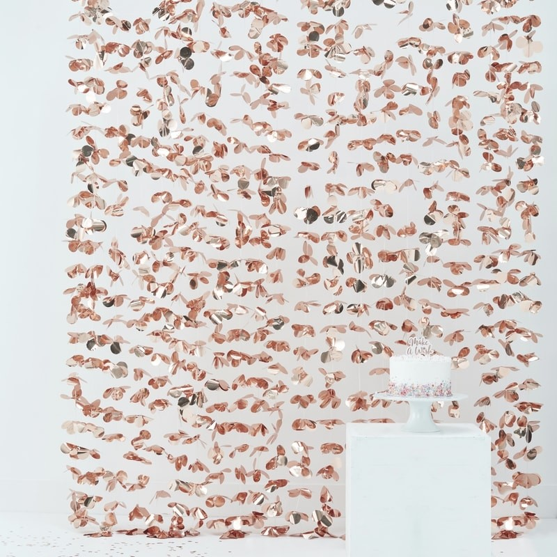 Backdrop rose gold