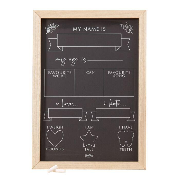 Baby milestone chalkboard