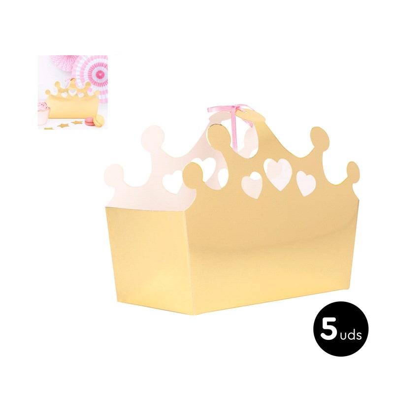 Caixas coroa ouro