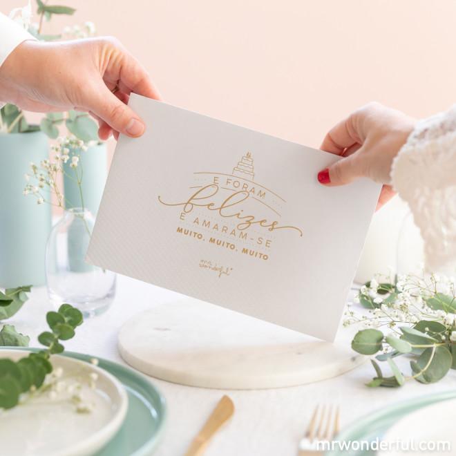 Pasta para presente de casamento