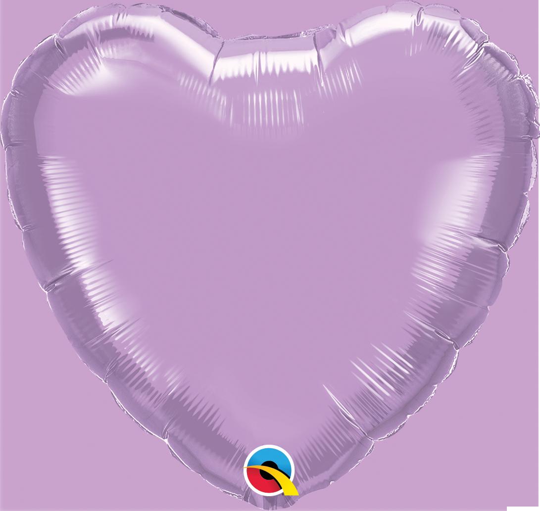 Balão coração lavanda