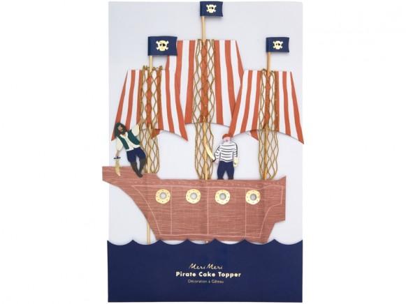 Cake topper piratas