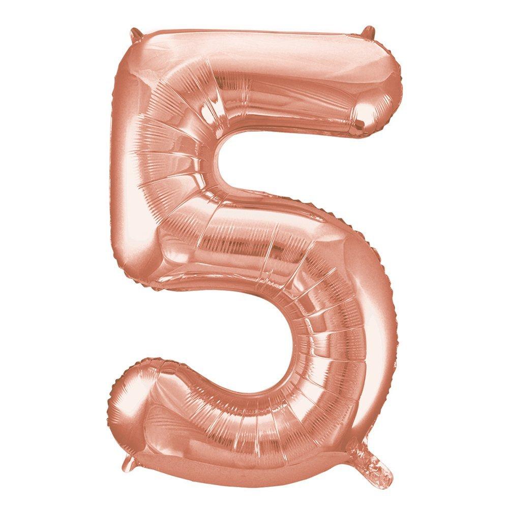 Balão numero 5 rose gold