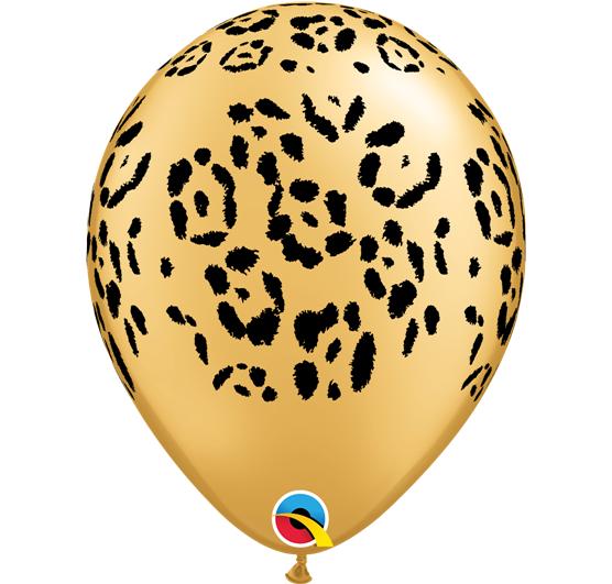 Balão látex 30cm leopardo