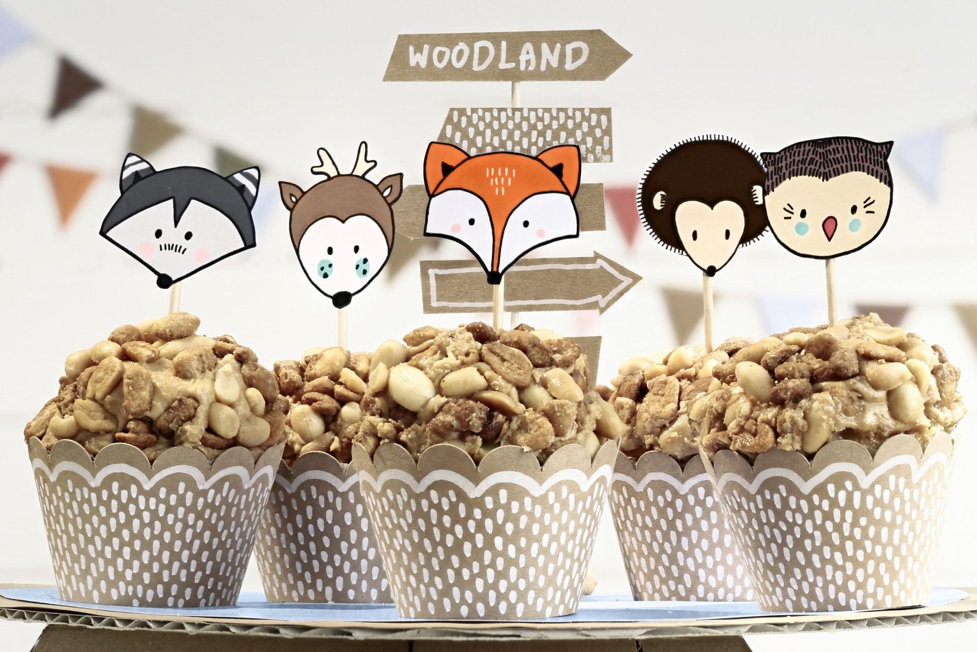 Cupcakes floresta