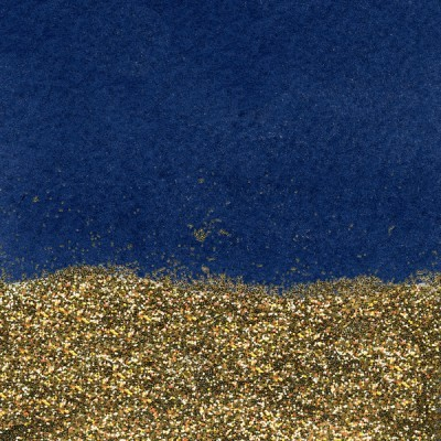 Azul e dourado