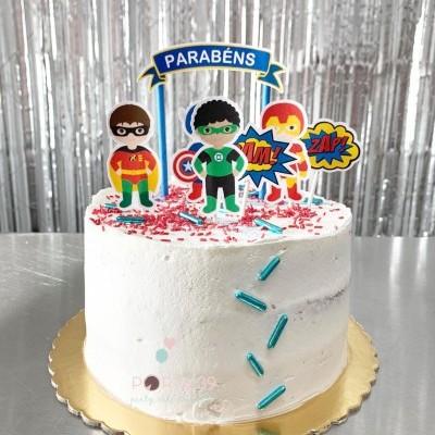 Cake topper Super heróis