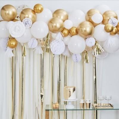 Arco de balões, tassel e honeycomb