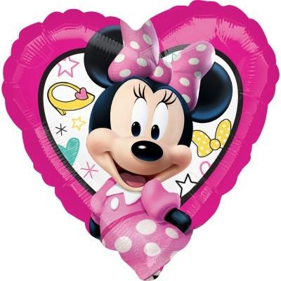 Balão coração Minnie