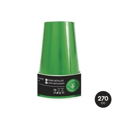 Copos verde metálico