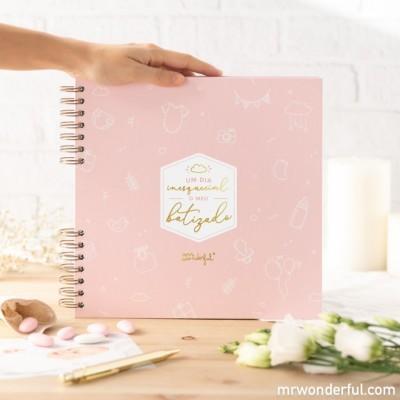 Álbum Batizado rosa