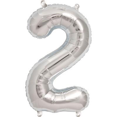 Balão numero 2 prata