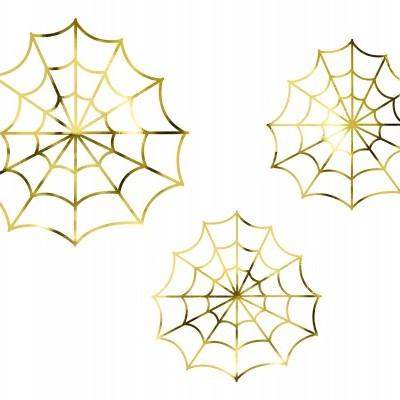 Teias de aranha douradas
