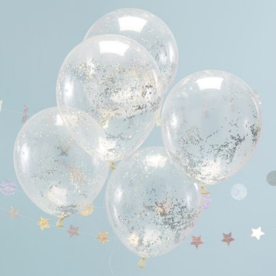 Balões confetis holográficos