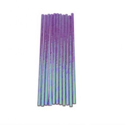 Palhinhas de papel iridescentes roxo