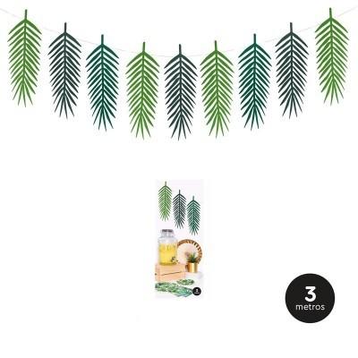 Grinalda folhas palmeira