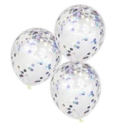 Balões confetis iridescentes