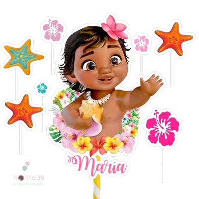 Cake topper Vaiana bebé