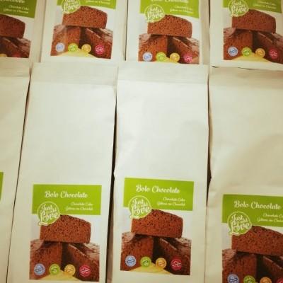 Preparado de bolo de chocolate vegan