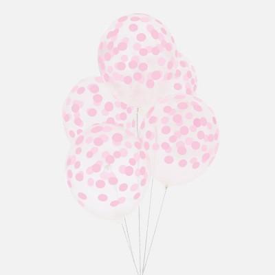 Balões confetis impressos rosa