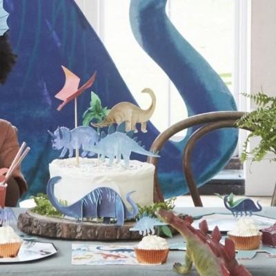 Cake topper dinossauros