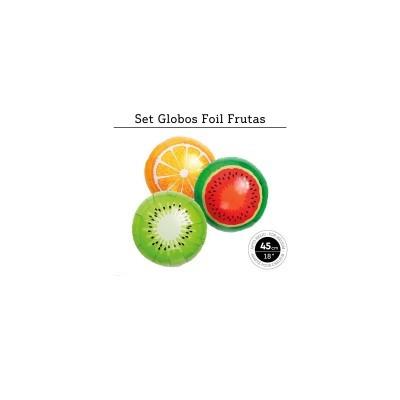 Balões frutas