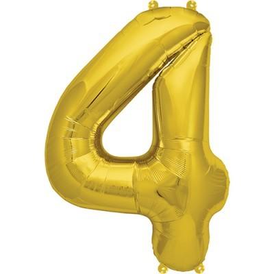Balão numero 4 dourado