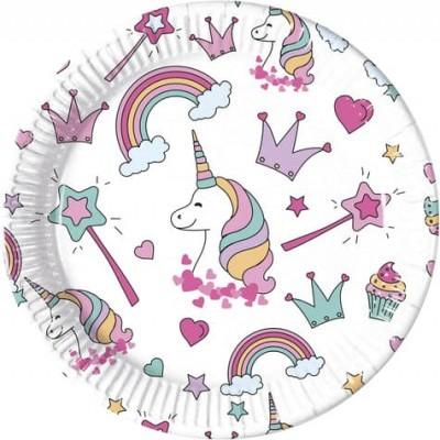 Pratos Magic party unicorn