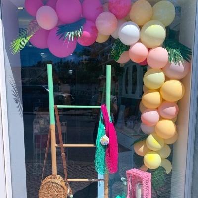 Arco balões tropical