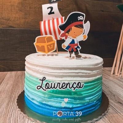 Cake topper pirata