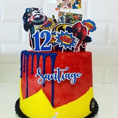 Cake topper Super herois