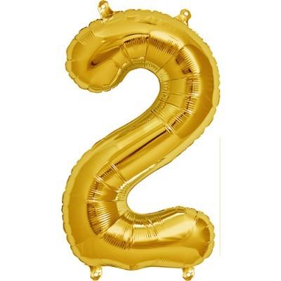 Balão numero 2 dourado