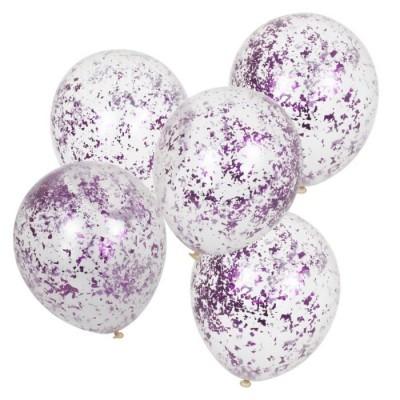 Balões confetis rosa
