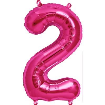 Balão numero 2 rosa