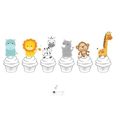 Topos para cupcakes selva