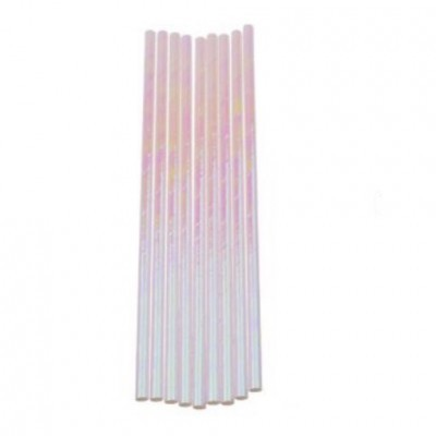 Palhinhas de papel iridescentes