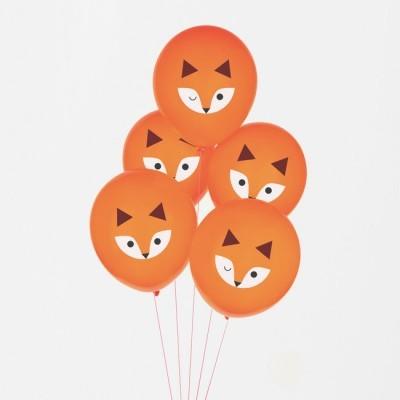 Balões impressos mini raposa