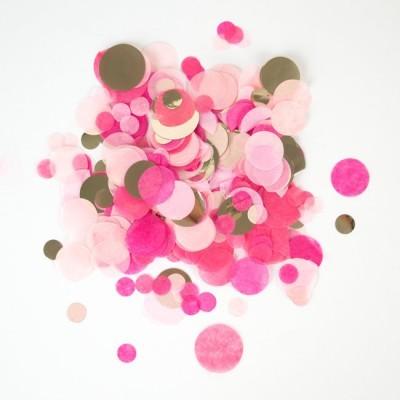 CONFETIS rosa e dourado