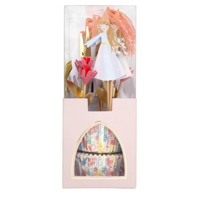 Conj. para cupcakes princesas