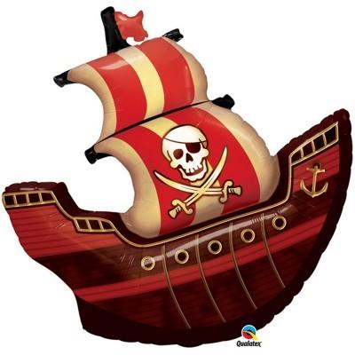 Balão navio piratas