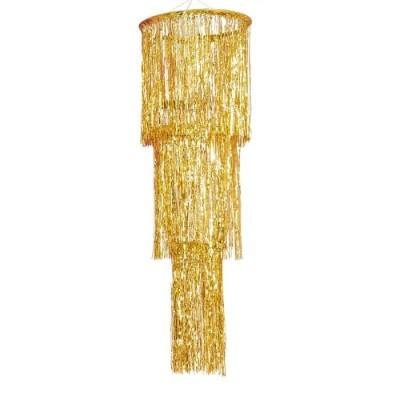 Candelabro fringe dourado