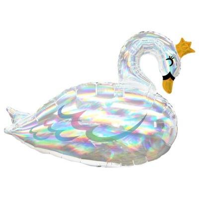 Balão cisne iridescente
