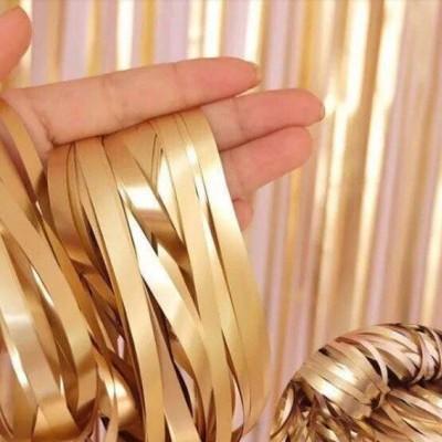 Cortina franjas dourado