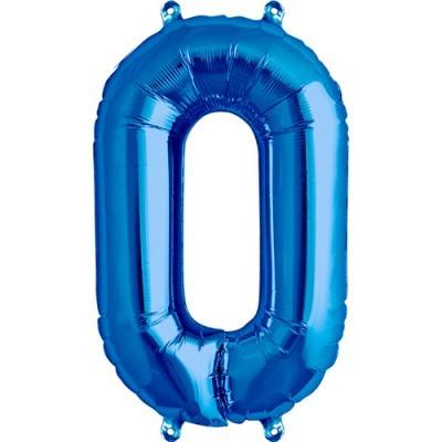 Balão numero 0 azul