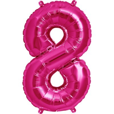 Balão numero 8 rosa